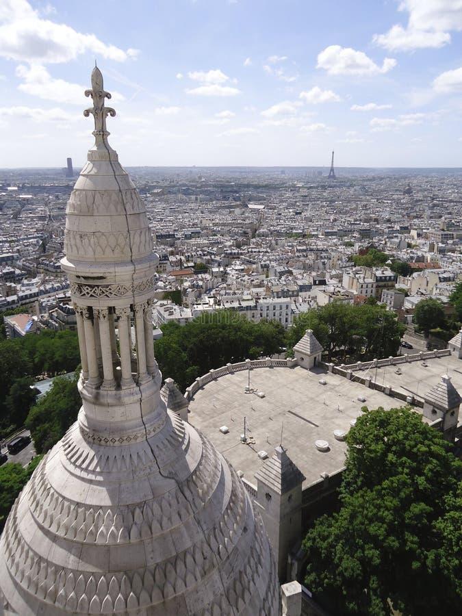 Vista de Montmarte fotos de stock royalty free