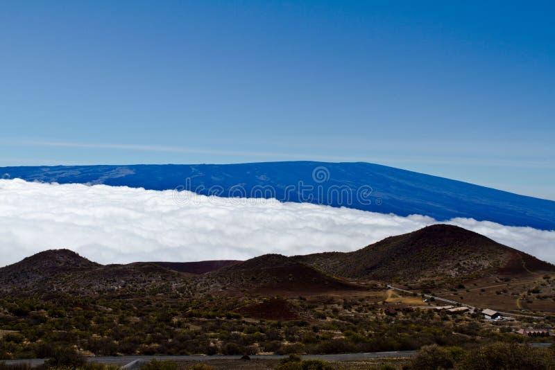 Vista de Mouna Kea na ilha grande fotografia de stock royalty free