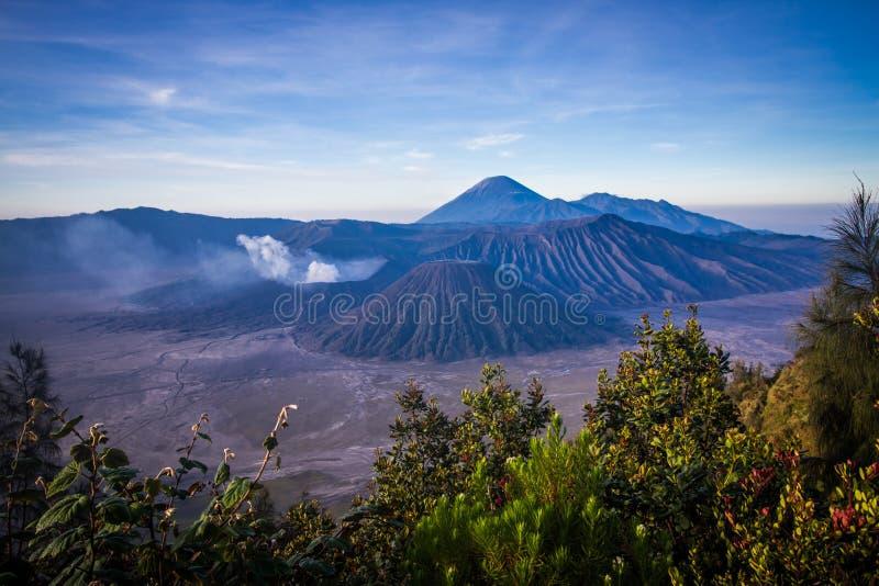 Vista de Mt Bromo fotos de stock