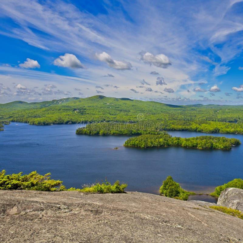 Vista de Mt Megunticook, Camden, Maine, Nova Inglaterra, EUA foto de stock royalty free