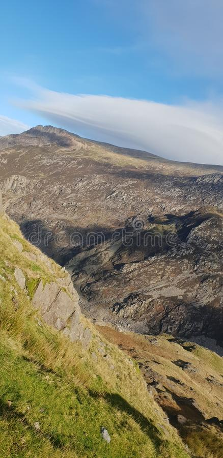 Vista de Mt Snowdon fotos de stock