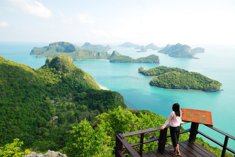 Vista de MU Ko Angthong Island.#10 foto de stock royalty free