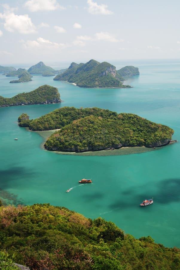 Vista de MU Ko Angthong Island.#2 fotografia de stock royalty free
