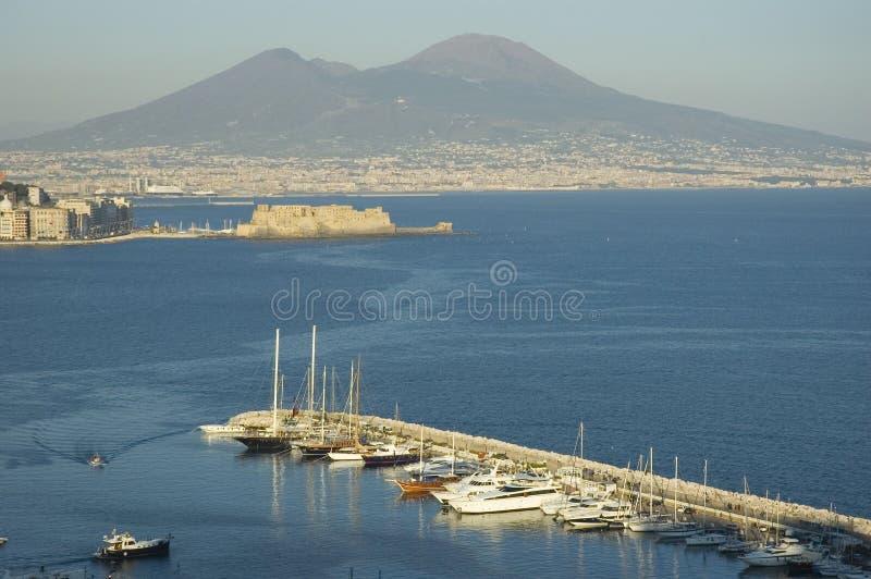 Vista de Nápoles, Italy fotos de stock