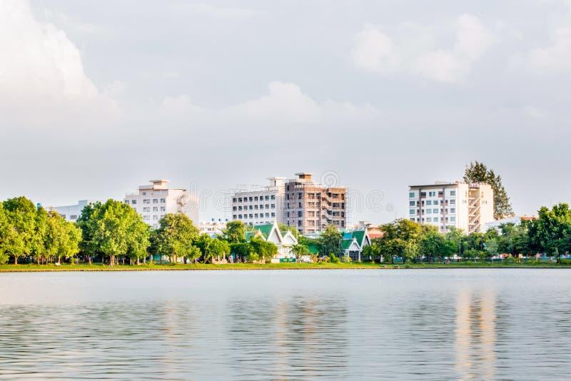 Vista de Nakornsawan Tailândia, Nhongsombun foto de stock