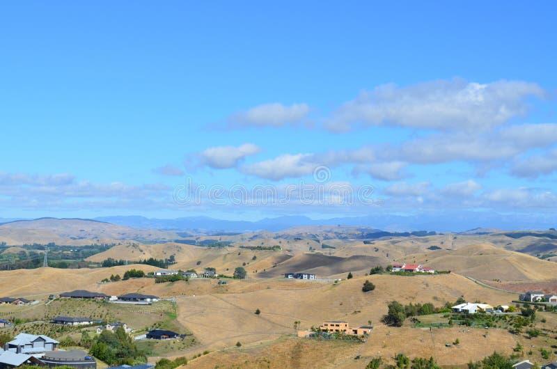 Vista de Napier, NZ de Sugar Loaf Reserve imagens de stock royalty free