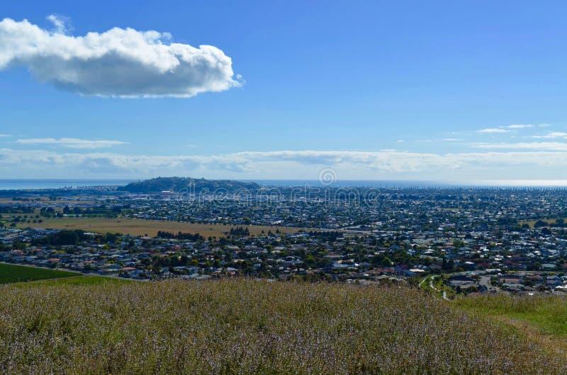 Vista de Napier, NZ de Sugar Loaf Reserve imagens de stock