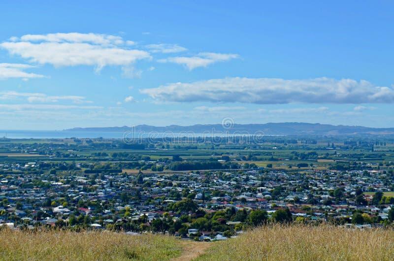 Vista de Napier, NZ de Sugar Loaf Reserve imagem de stock royalty free