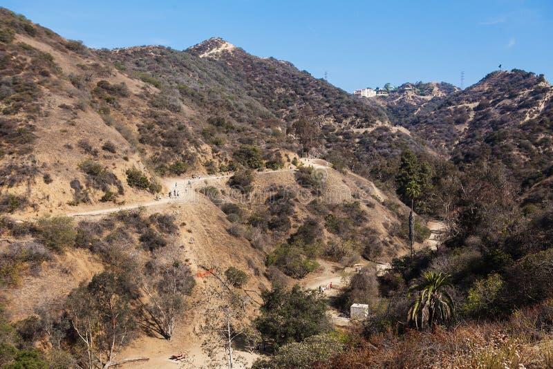 Vista de natural nas montanhas, runyon de Los Angeles imagem de stock