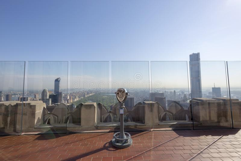 Vista de New York City según lo visto de la plataforma de observación del centro de Rockefeller, New York City, los E.E.U.U. imagen de archivo libre de regalías