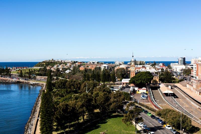 Vista de Newcastle, Austrália imagem de stock royalty free
