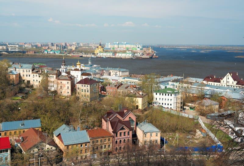 Vista de Nizhny Novgorod de centro imágenes de archivo libres de regalías