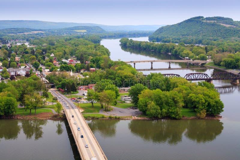Vista de Northumberland Pennsylvania imagenes de archivo