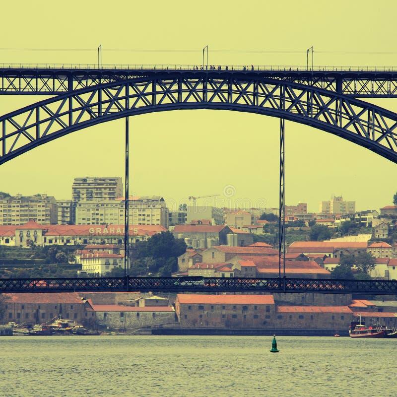 Vista de Oporto, Portugal foto de archivo