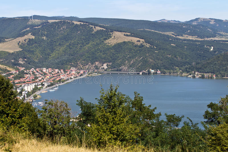 Vista de Orsova fotos de archivo