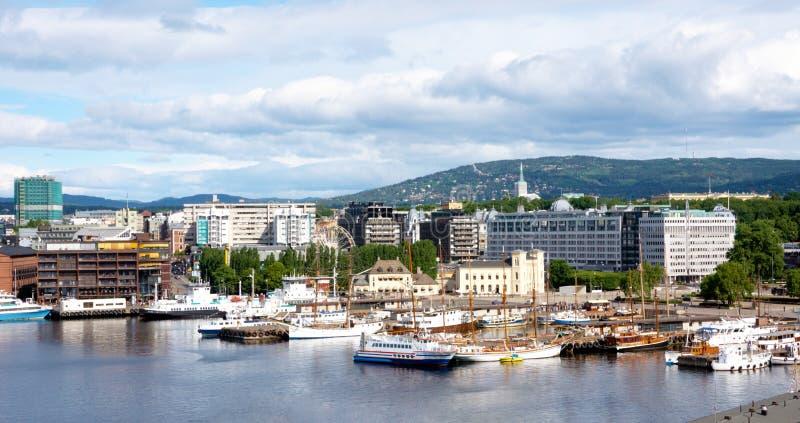 Vista de Oslo fotos de stock royalty free