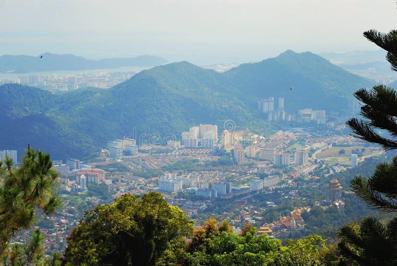Vista de pájaro el paisaje hermoso de Penang imagen de archivo