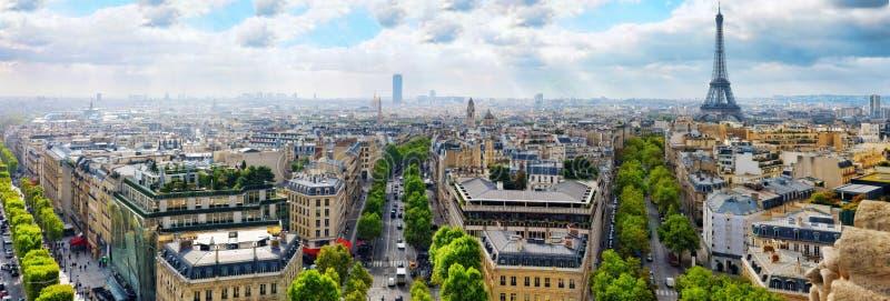 Vista de París de Arc de Triomphe. París. Francia. imagen de archivo libre de regalías