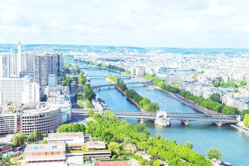 Vista de París de la torre Eiffel foto de archivo