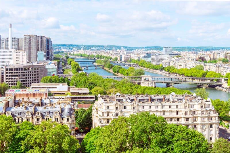 Vista de París de la torre Eiffel fotografía de archivo