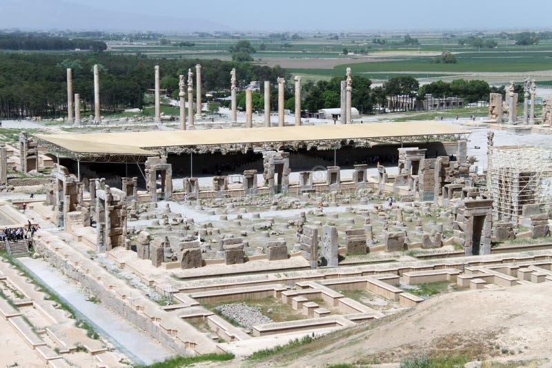 Vista de Persepolis de la colina imagen de archivo libre de regalías