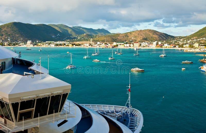 Vista de Philipsburg, St. Maarten foto de archivo libre de regalías