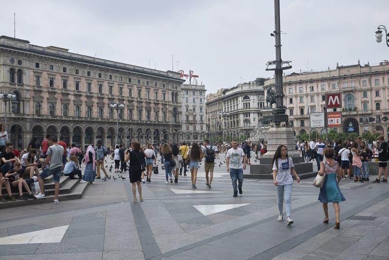 Vista de Piazza Duomo foto de stock