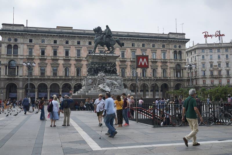 Vista de Piazza Duomo fotos de stock royalty free