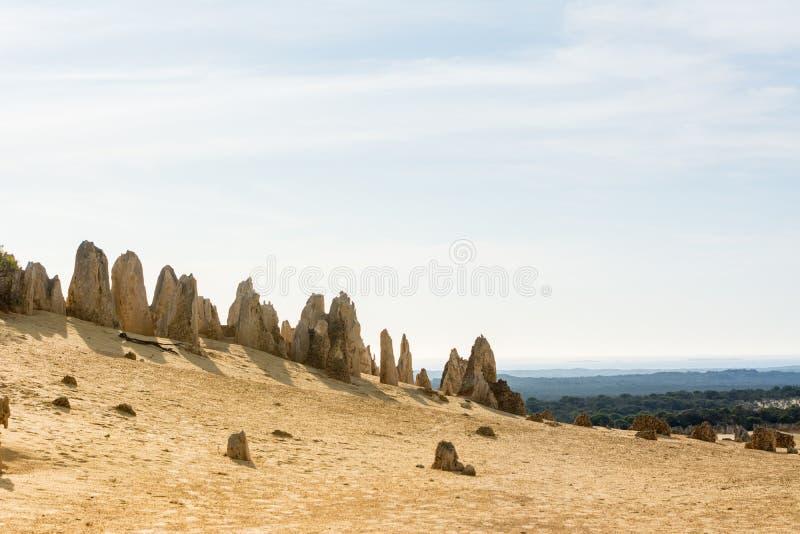 Vista de Pinacles na Austrália Ocidental da sobremesa imagens de stock royalty free
