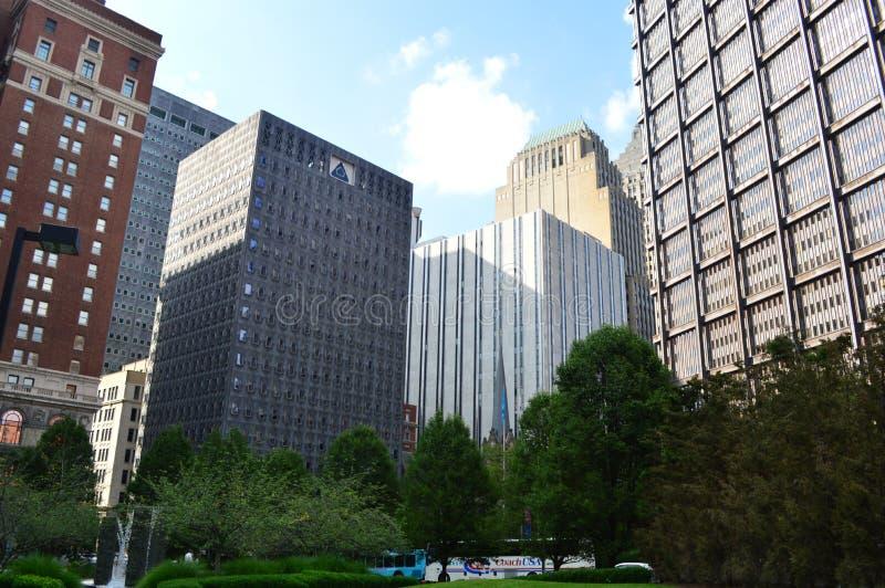 Vista de Pittsburgh céntrica fotos de archivo