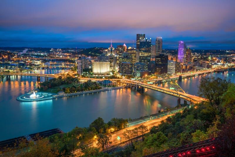Vista de Pittsburgh céntrica fotografía de archivo