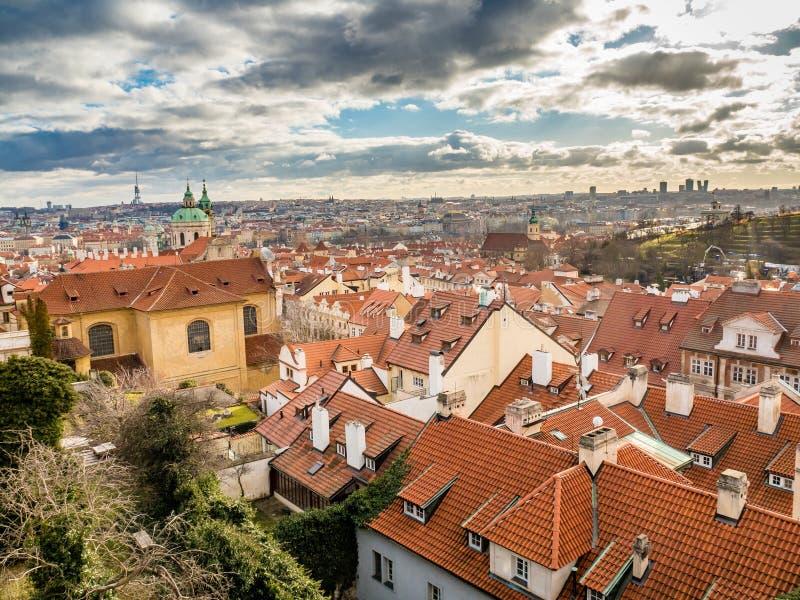 Vista de Praga vieja del castillo de Praga fotografía de archivo