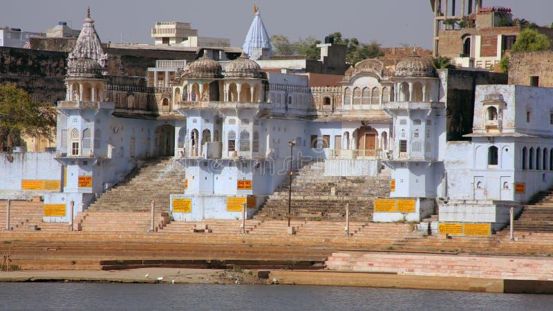 Vista de Pushkar, Rajasthan, Índia imagem de stock