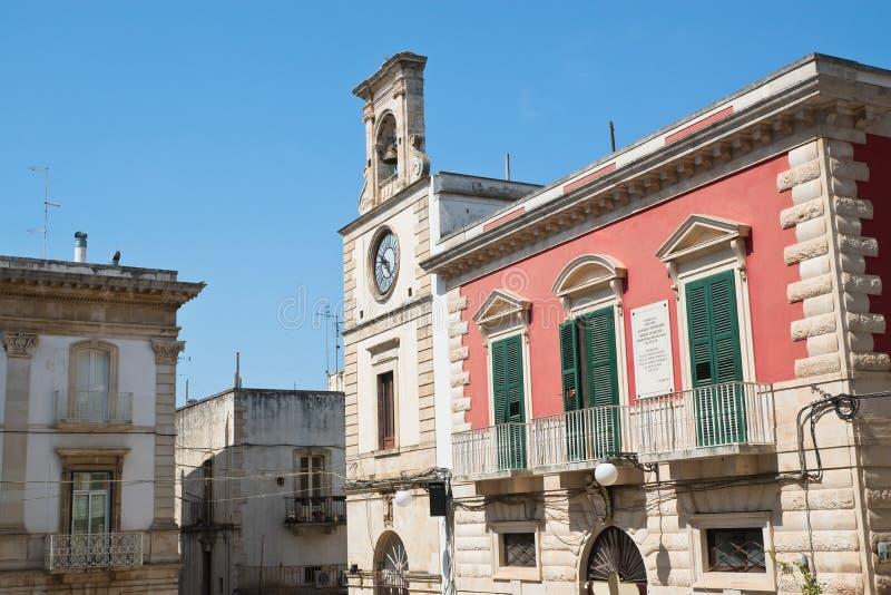 Vista de Putignano Puglia Italy imagem de stock