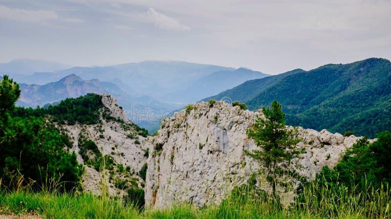 Vista de Pyrenees imagem de stock