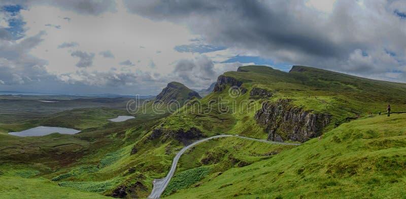 Vista de Quiraing, ilha de Skye, Escócia imagens de stock royalty free