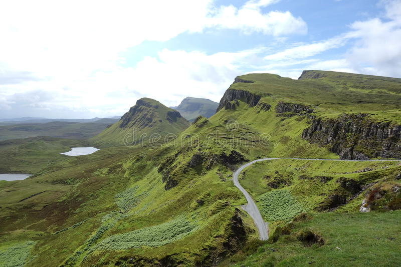Vista de Quiraing, ilha de Skye, Escócia foto de stock royalty free