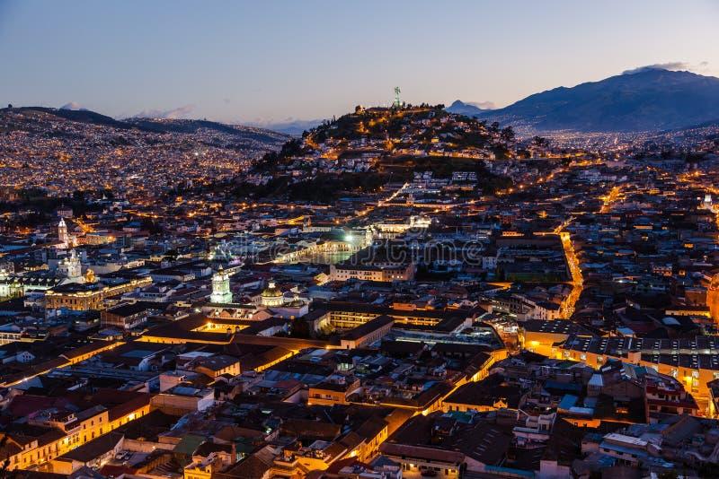 Vista de Quito colonial imagen de archivo libre de regalías