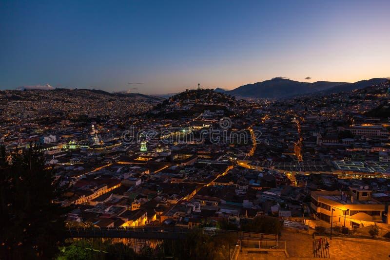 Vista de Quito colonial fotografía de archivo libre de regalías
