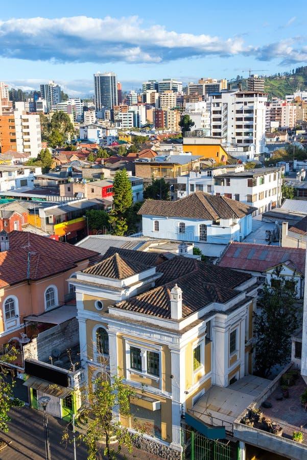 Vista de Quito, Ecuador fotos de archivo libres de regalías