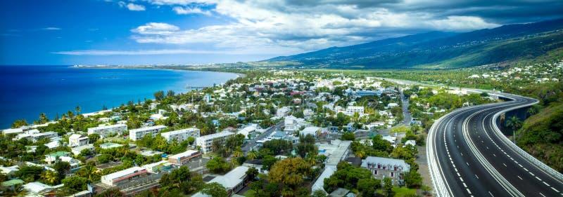 Vista de Reunion Island imagem de stock