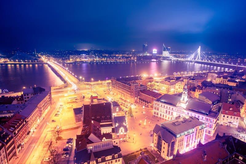 Vista de Riga imagens de stock
