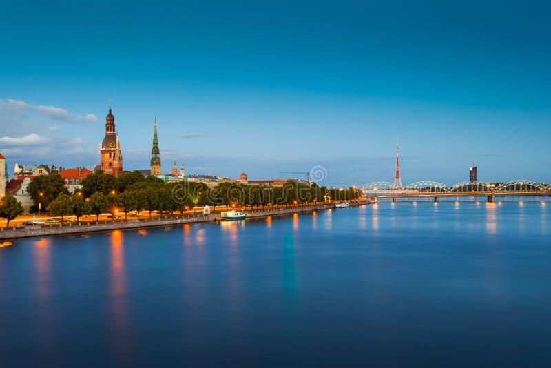 Vista de Riga, Latvia fotografia de stock