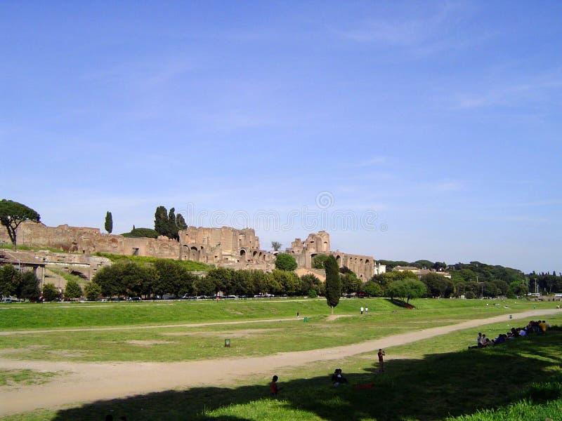 Vista de Roma antiga fotografia de stock royalty free