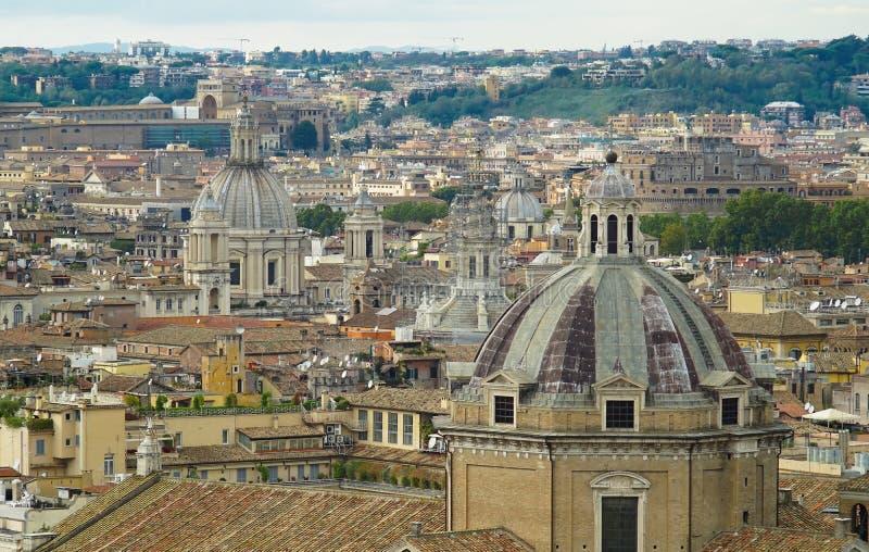 Vista de Roma de la altura imagen de archivo