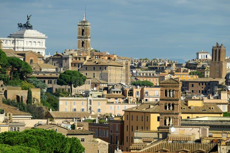Vista de Roma de la colina de Aventine fotos de archivo