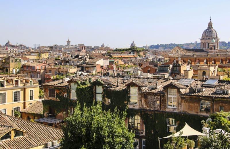 Vista de Roma de la colina de Pincio, Roma, Italia foto de archivo libre de regalías