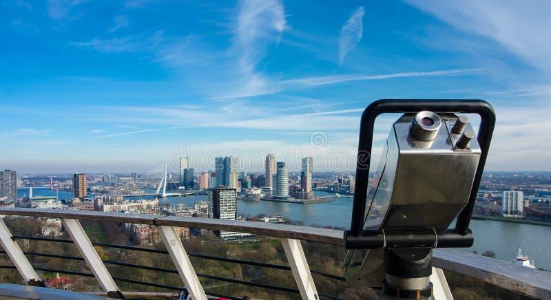 Vista de Rotterdam fotografia de stock royalty free