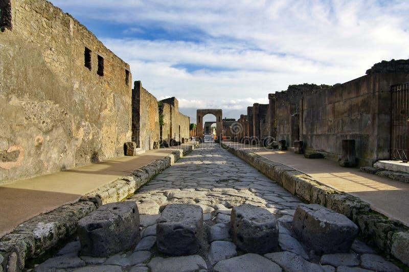 Vista de ruínas de Pompeii. Italy. foto de stock