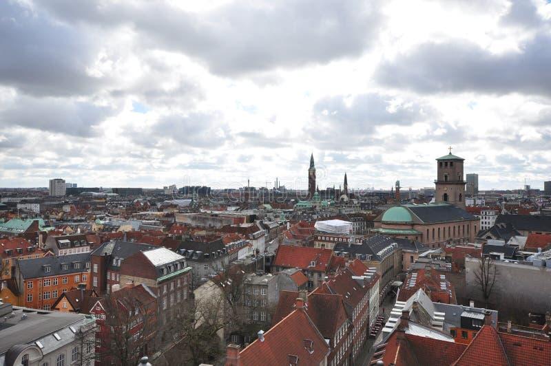 Vista de Rundetaarn fotografia de stock royalty free